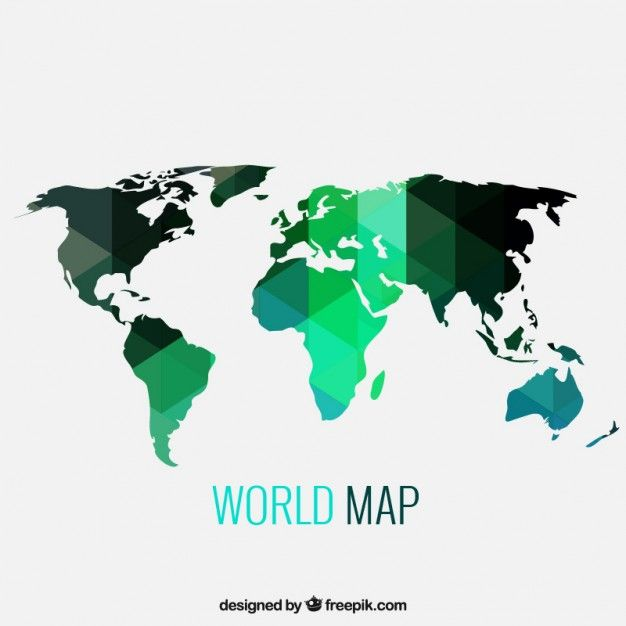 Geometric world map free vector world maps pinterest geometric world map free vector gumiabroncs Gallery