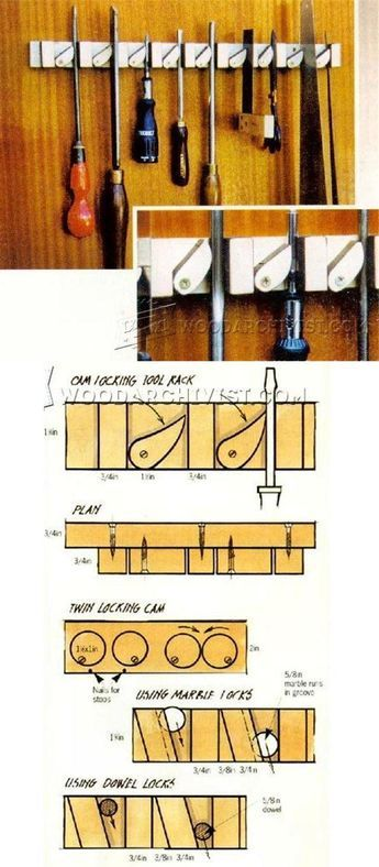 Tool Rack Plans - Workshop Solutions Projects, Tips and Tricks  | WoodArchivist.com