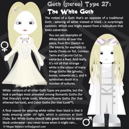 #27: White Goth by Trellia.deviantart.com on deviantART