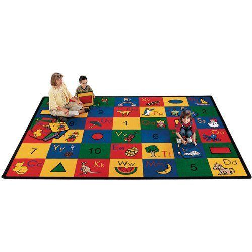 Blocks Of Fun School Rug Rectangle