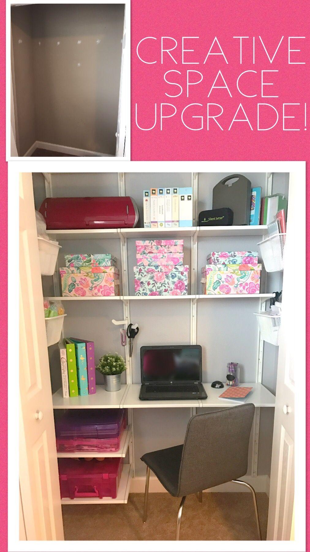 Creative Space Closet Office Ikea Algot Modular Closet