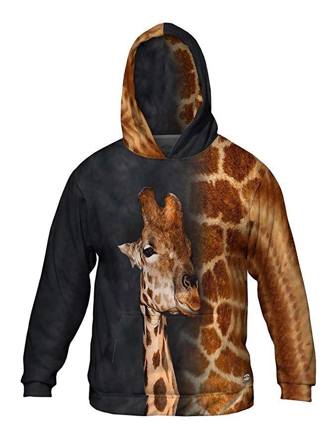 bc8db177749 Yizzam- Giraffe Half Skin -Allover Print - Mens Hoodie Sweater Review