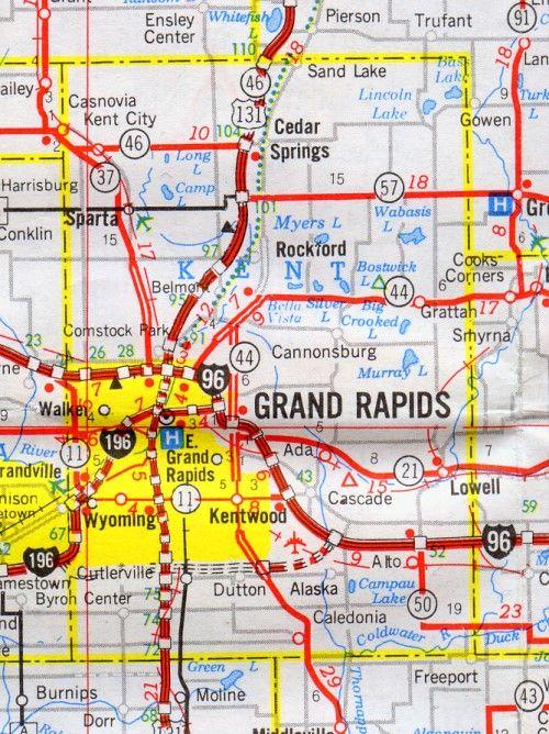 Kent County Map Michigan Michigan Hotels Motels Vacation