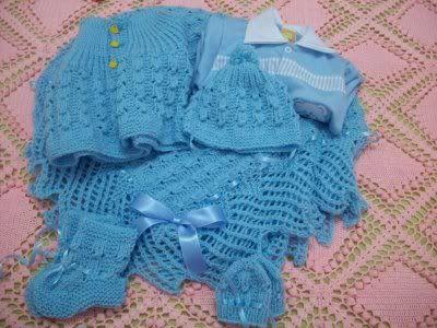 Receita de Tricô: Conjunto para Bebê em trico