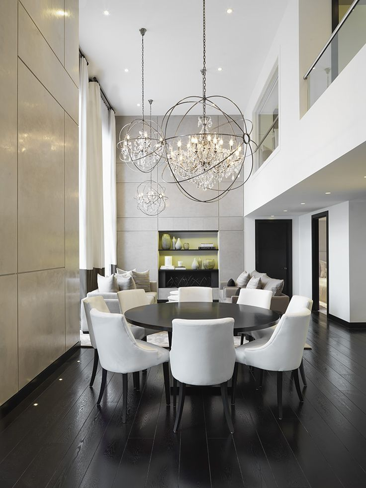 Resultado De Imagen Para Double Height Ceiling Lamp Dining Room