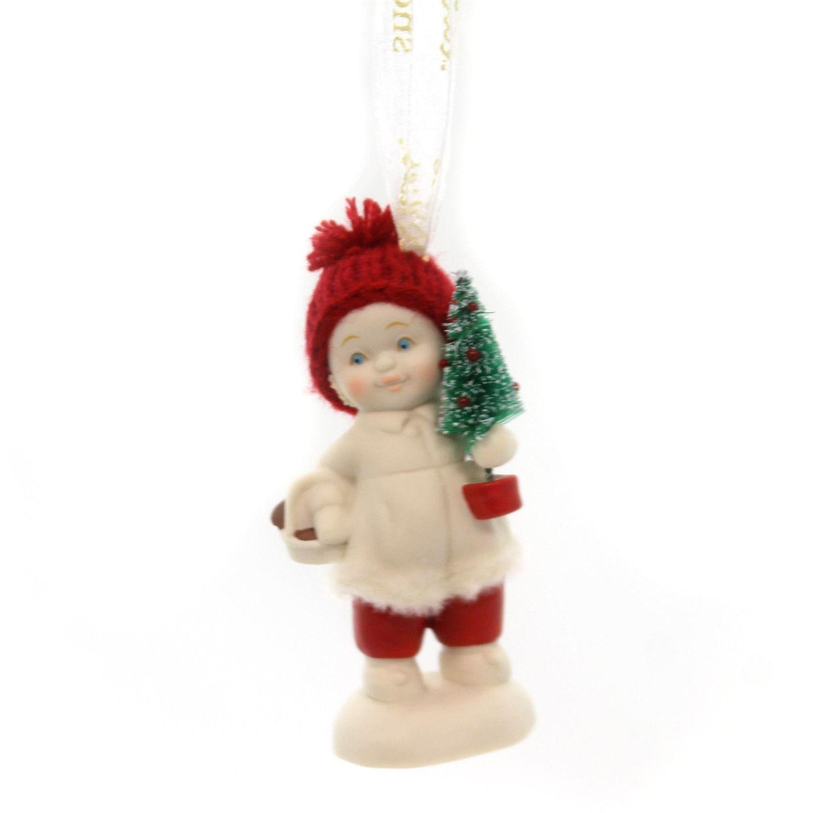 Dept 56 Snowbabies Toting The Tree Christmas Figurine