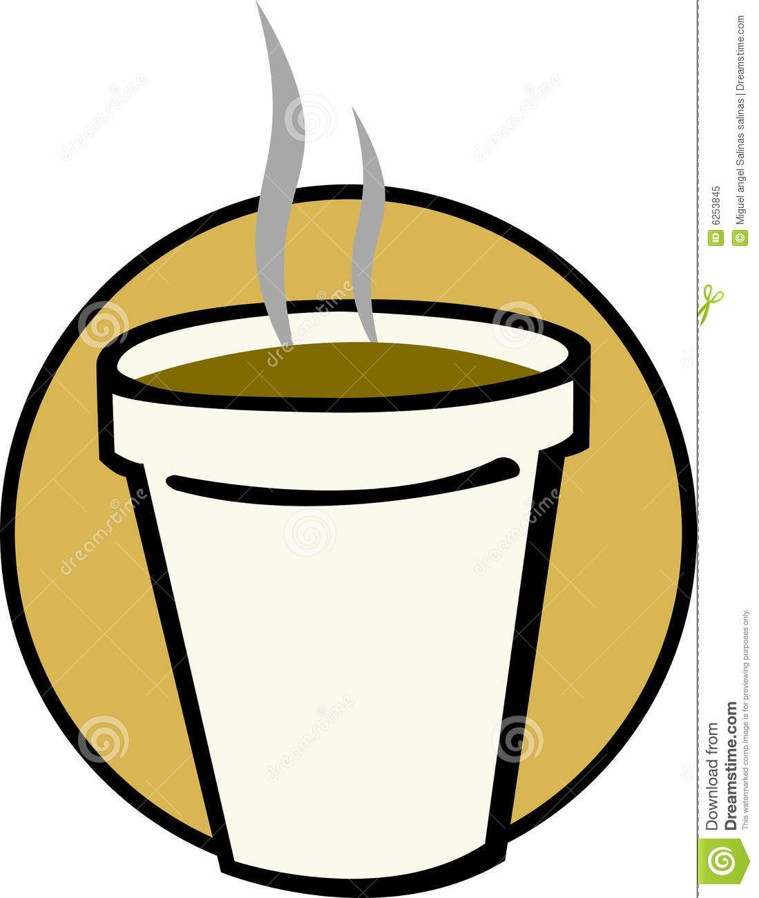 Coffee cup vector free - Hot Coffee In Styrofoam Cup Vector Illustration Royalty Free Stock