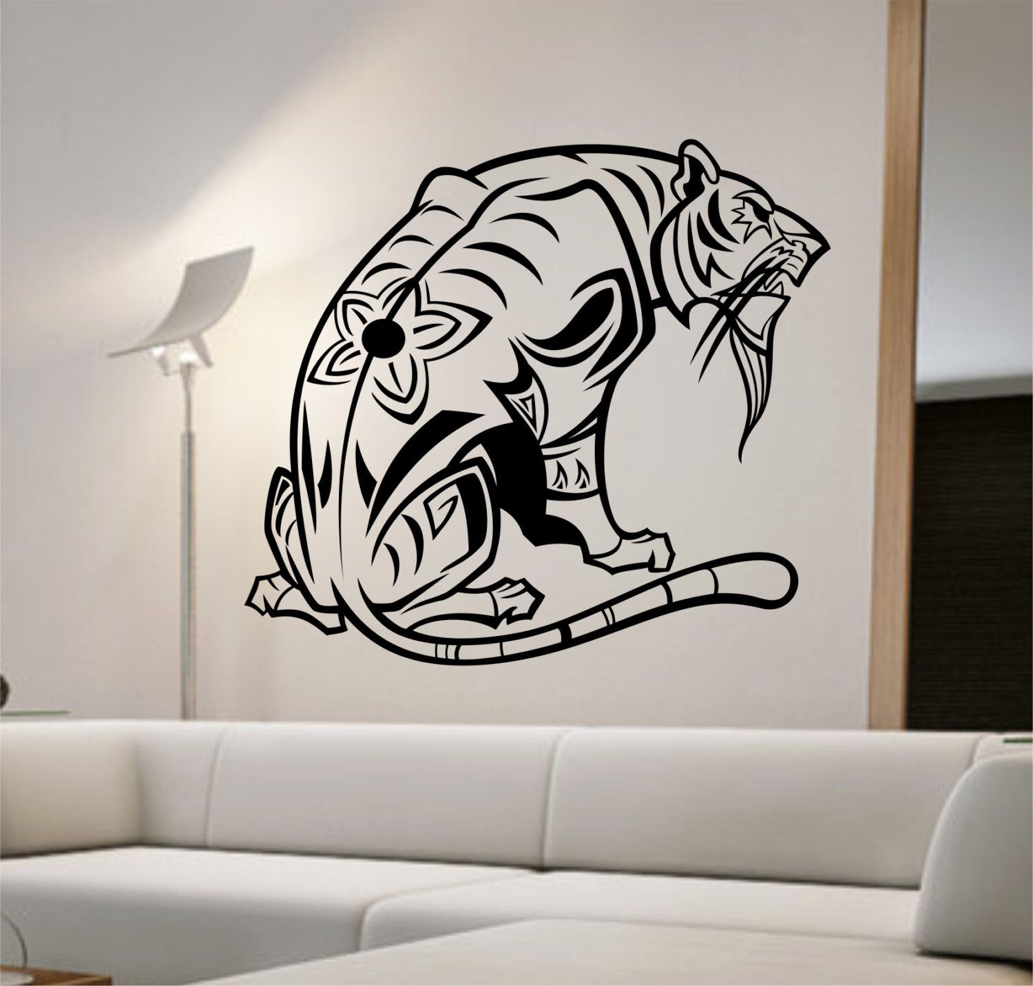 Tiger Wall Decal Sticker Art Decor Bedroom Design Mural  animal lover interior design home decor by StateOfTheWall on Etsy https://www.etsy.com/listing/222217964/tiger-wall-decal-sticker-art-decor