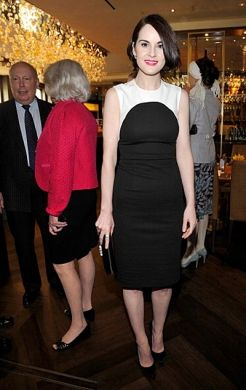 Michelle Dockery at the pre Golden Globes BAFTA tea party 2013