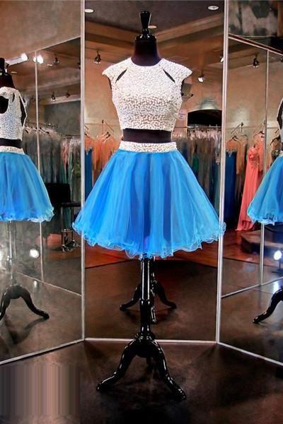 Blue Prom Dressshort Prom Dressjunior Prom Dresscheap Prom Dress