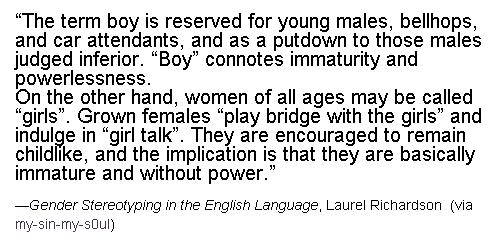 Gender Stereotyping in the English Language, Laurel Richardson