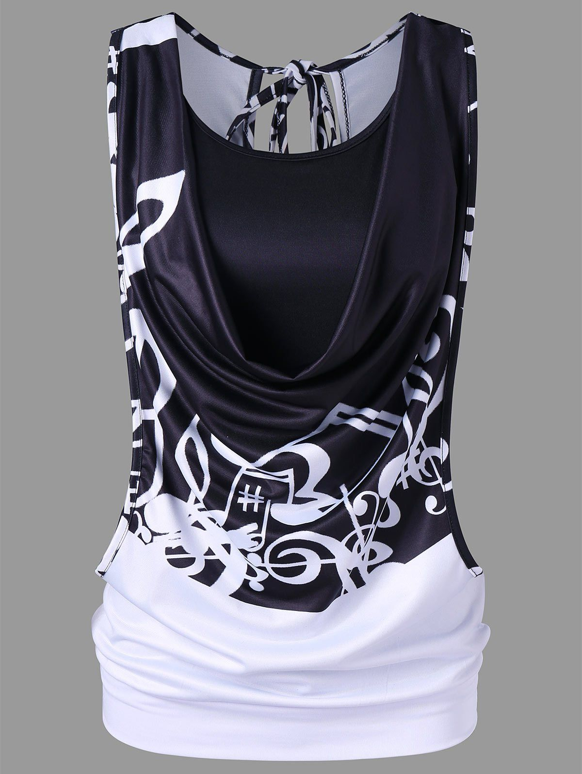 ae1a3bce8ad Gamiss Fashion Music Note Printed Tank Top With Camisole Women Tank Tops  Causal Sleeveless Vest Cropped Feminino M-2XL