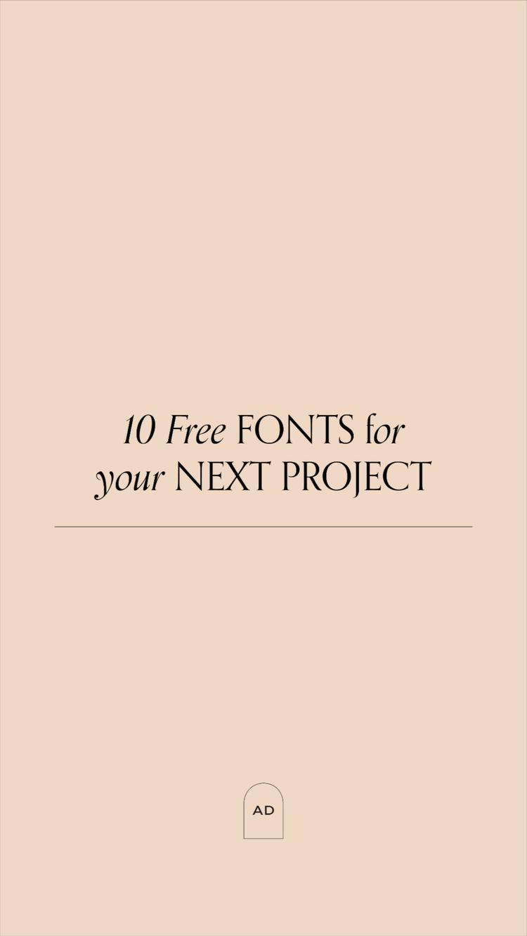 10 Free Fonts For Your Next Project