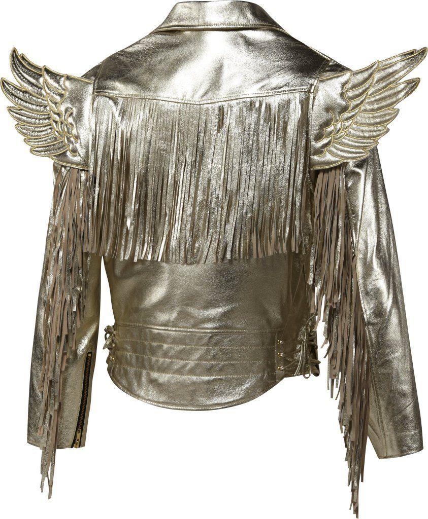 newest 78639 4b3d4 Amazon.com  Adidas Men s Jeremy Scott JS Gold Wings Leather Jacket  Clothing