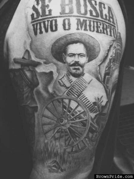 Mexican Revolution Tattoos : mexican, revolution, tattoos, Rosemann, Zapata/Villa, Aztec, Tattoo,, Chicano, Tattoos,, Tattoo, Pattern