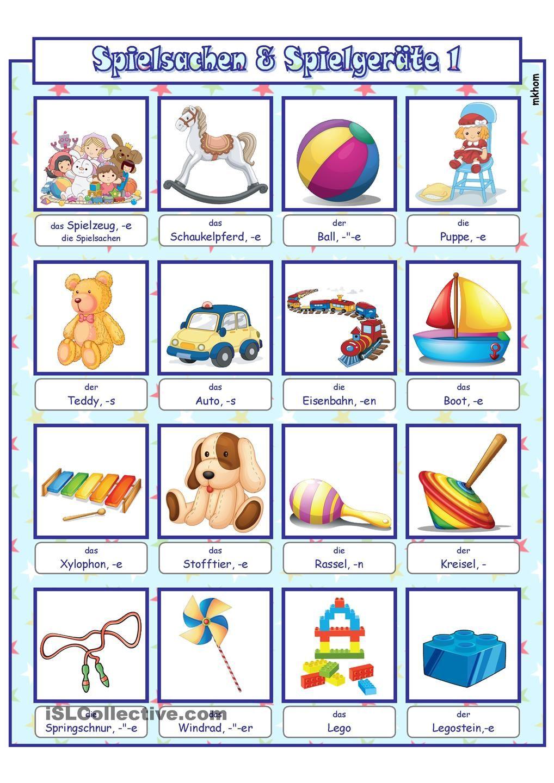 spielsachen 1 bildw rterbuch ab deutsch worksheets printables und kindergarten. Black Bedroom Furniture Sets. Home Design Ideas