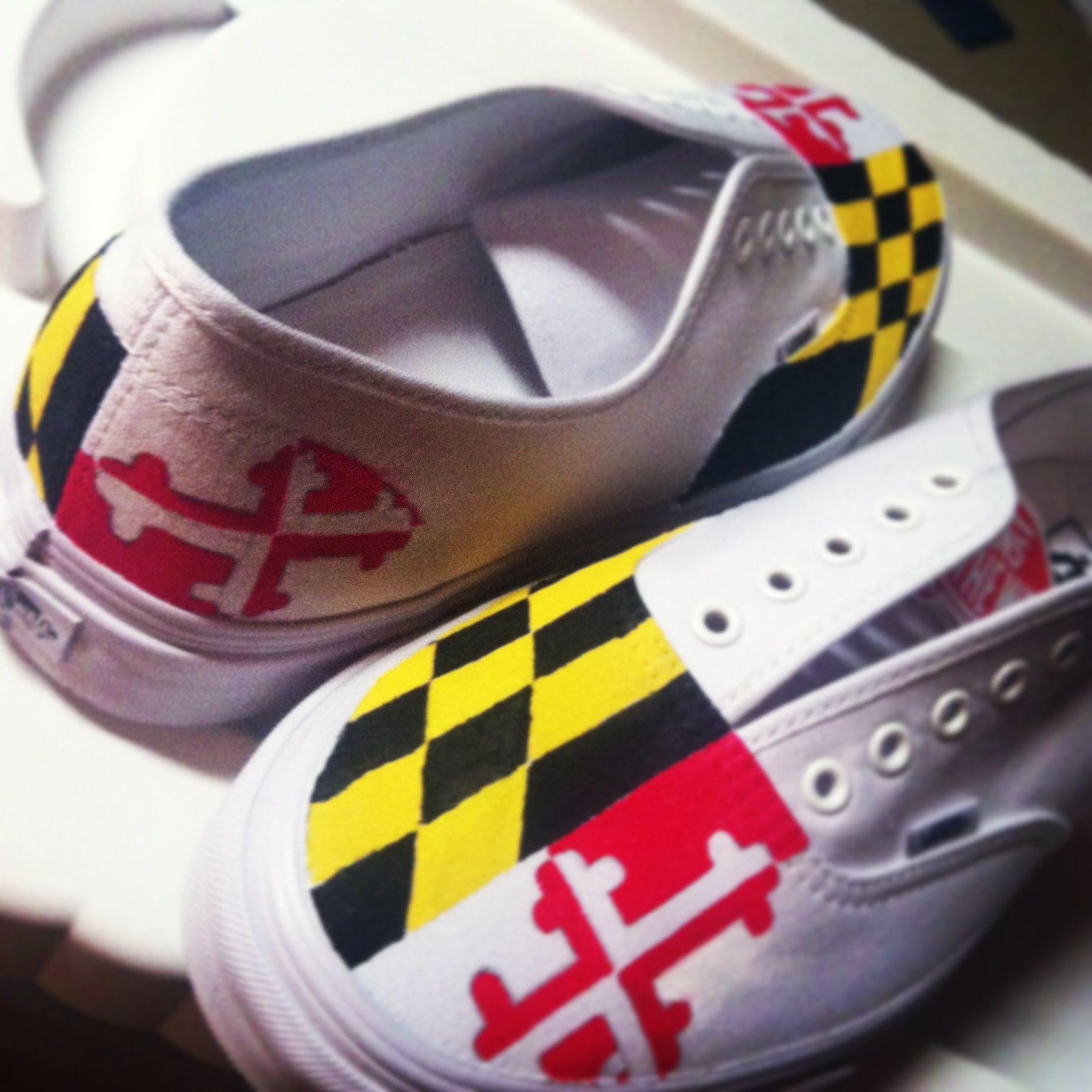 11e8545d5f Maryland Flag Hand Painted Vans