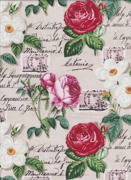 rosen u postkarten stoff nr 140769 von quilt shop ruth baudisch auf stoffe. Black Bedroom Furniture Sets. Home Design Ideas