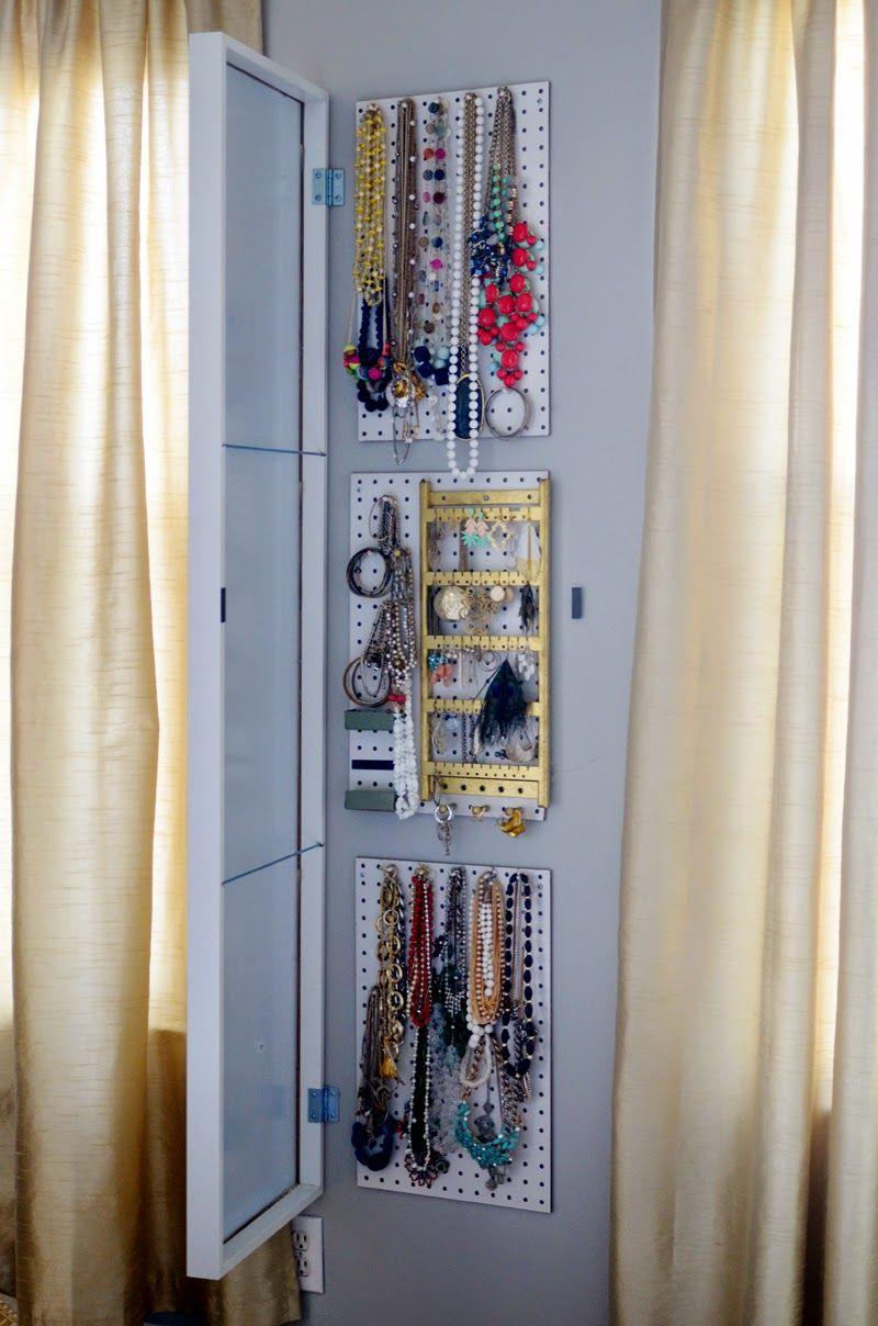 Jewellery Organizer Ikea : jewellery, organizer, Hack:, Ultimate, Jewelry, Storage, Solution, Design, Fixation, Storage,, Mirror