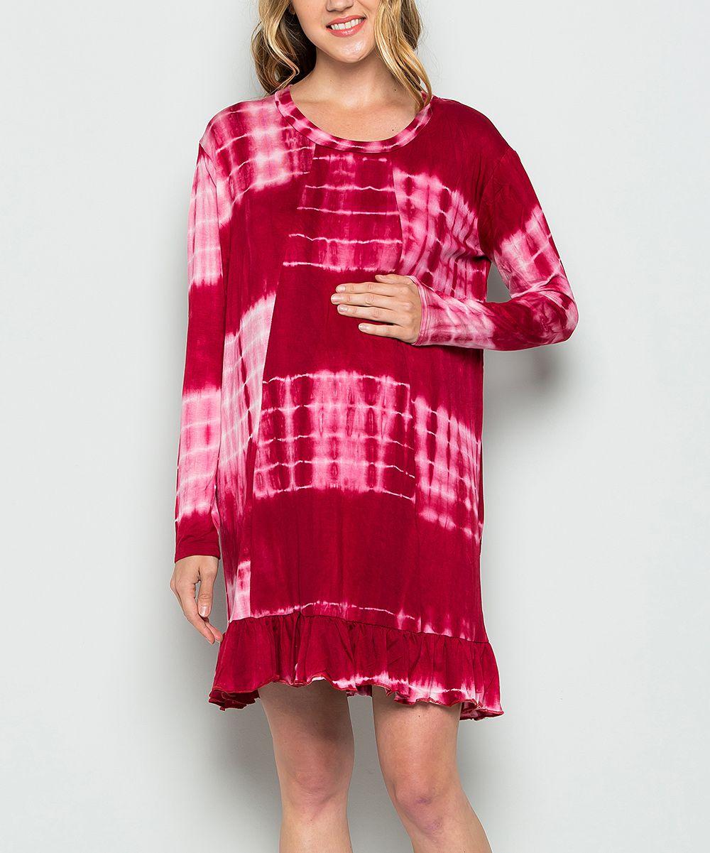 Wine tiedye cutout longsleeve dress products pinterest products