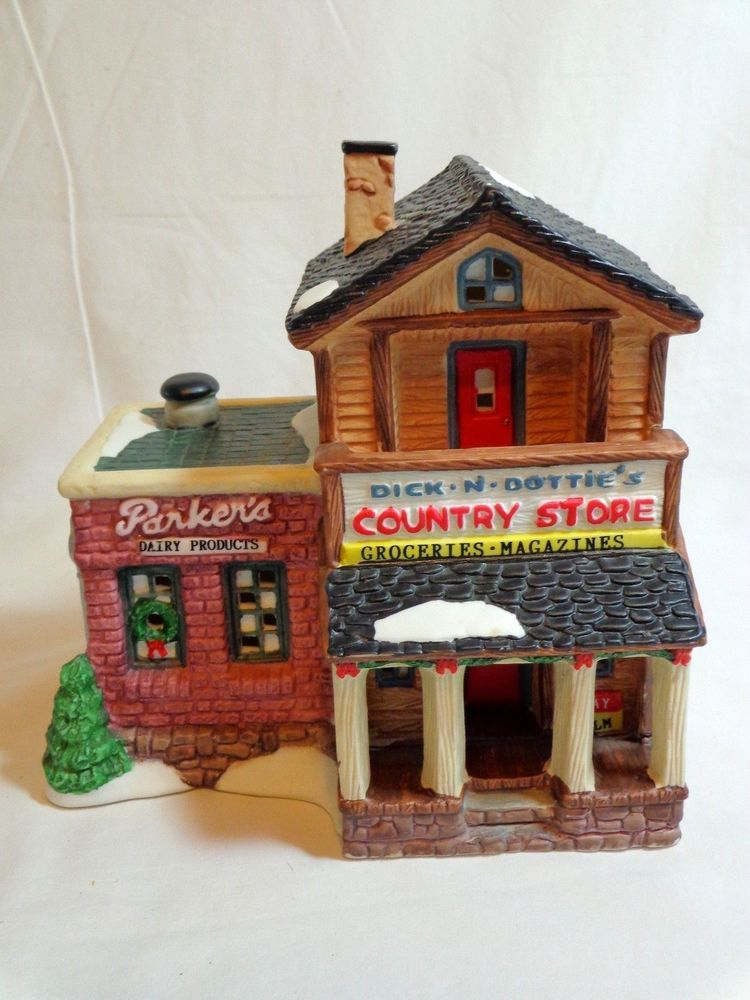 How To Store Christmas Village Houses.Details About Dick Dottie S Country Store Christmas Valley