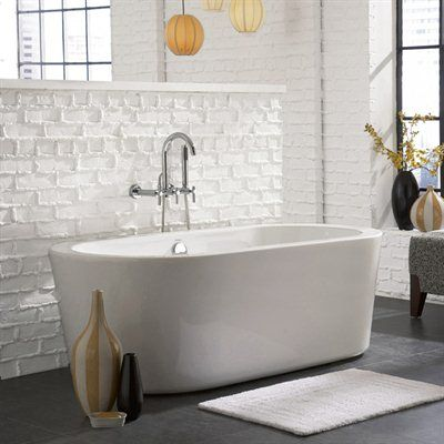 fiberglass freestanding tub with wall mount faucet. Giagni LV1 Ventura Wall Mounted Faucet Package Soaking Tub  Bath