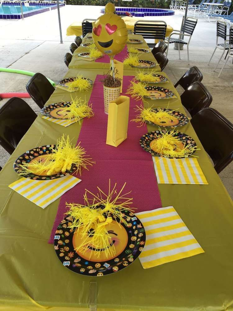 Check Out This Fun Emoji Party Table Settings So Cool See More Ideas And Share Yours At CatchMyParty
