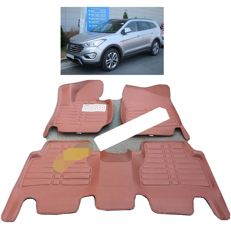 Fiber Leather Car Floor Mat For Hyundai Grand Santa Fe Hyundai