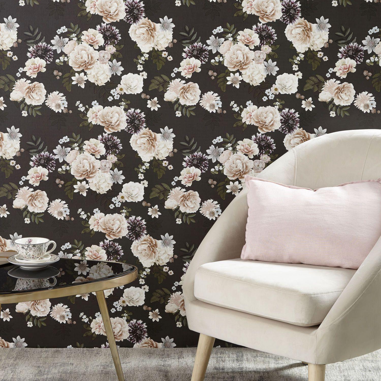 Papier peint intissé motif floral 48×800