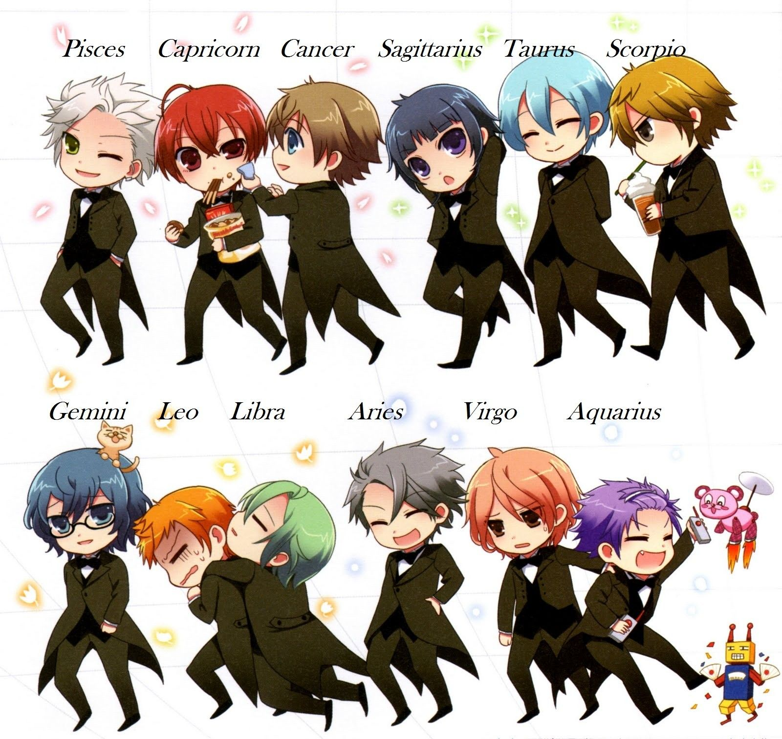 Anime Characters Zodiac Signs : A japanese anime based on zodiac signs super cute