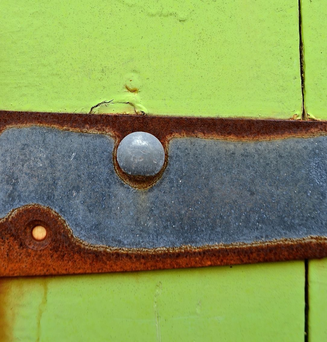 Anna Storm Photography - Beach Hut Door Lime Colour Texture Rust