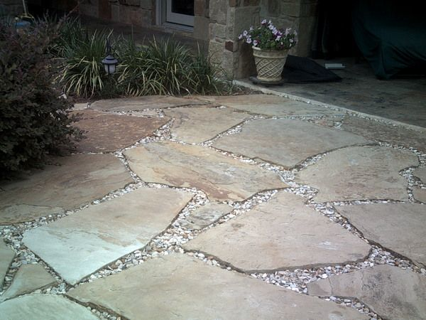 Pavers and gravel patio extension