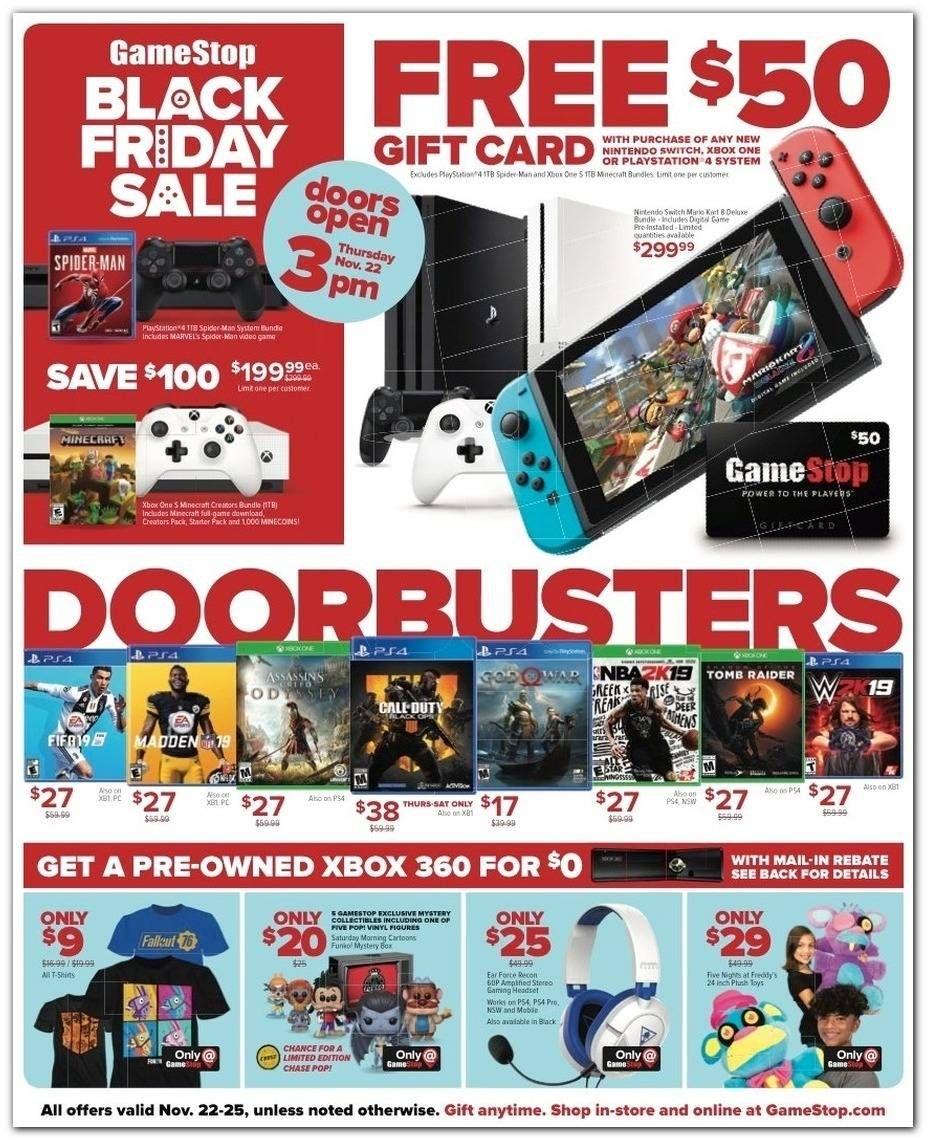 Gamestop 2019 Black Friday Ad Black Friday Ads Black Friday Gift Card Sale