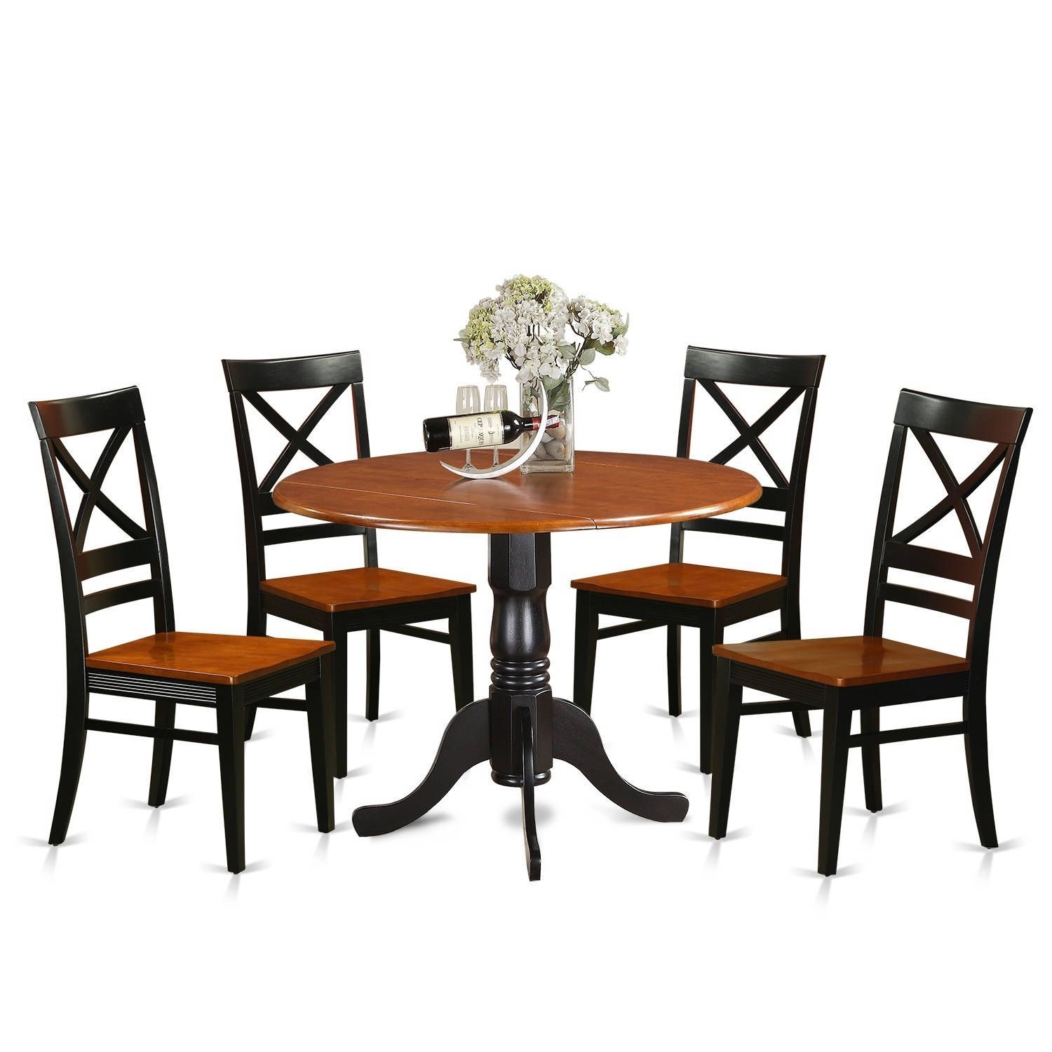 DLQU5 W 5 PC Kitchen Table set Dining Table and 4 Kitchen Chairs