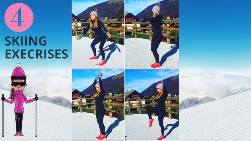 Ski Exercises that will get your legs, thighs, abs and butt ski-ready and super toned. This easy to follow home workout I have designed will help improve your lower body endurance, your balance, your flexibility as well as your core strength. So if you are heading off for a Ski holiday then do this workout as you will get more out of your skiing and you can do this anywhere so even in your ski chalet. Lucy