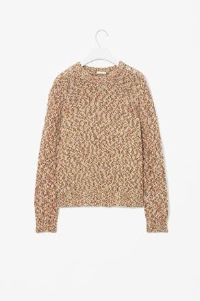 Melange wool jumper.