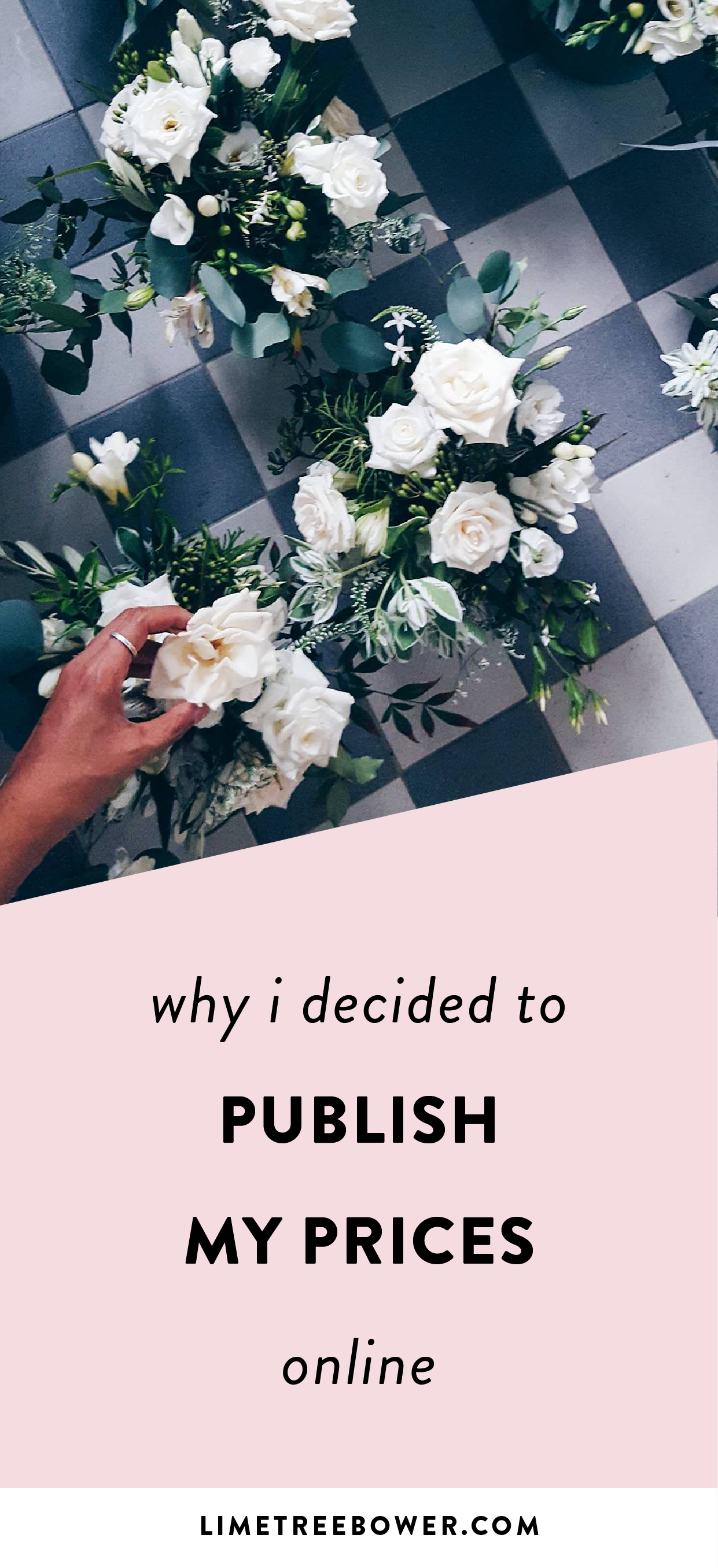 Why I Decided To Publish My Prices