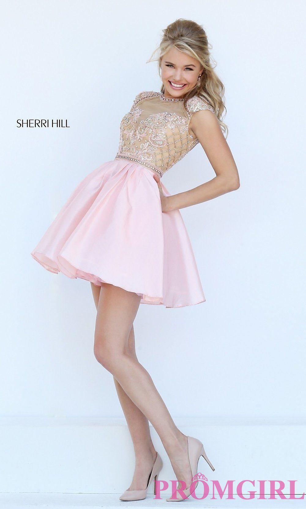 Long Sheer Open Back High Neck Prom Dress by Sherri Hill