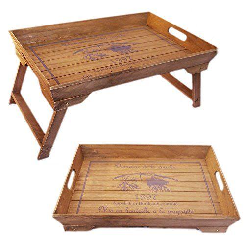 Tablett Holz Design design frühstückstablett bett tisch tablett serviertablett holz