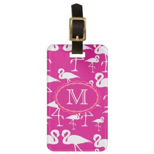 Pink Flamingo Travel Bag Tag Template travel luggage tags - bag tag template