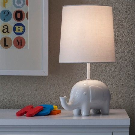 Circo Ceramic Table Lamp Amp Shade Elephant With Bulb