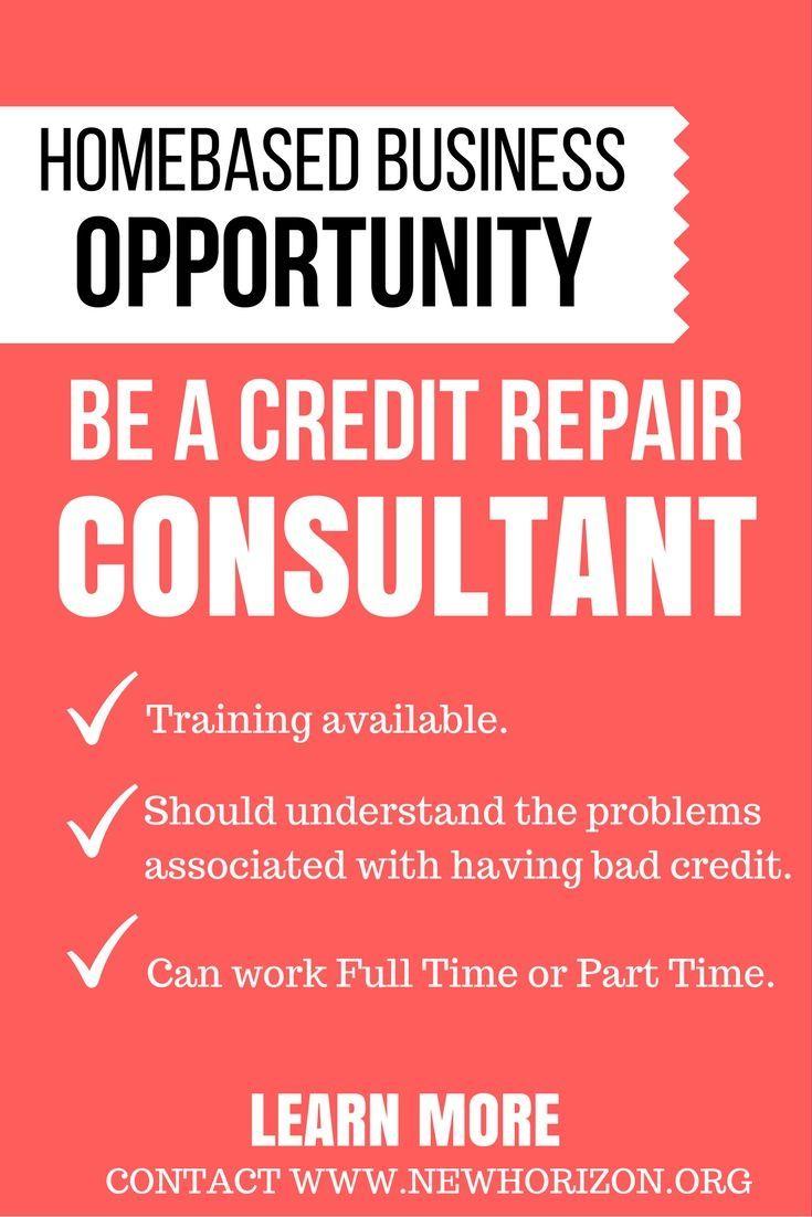 Be a credit repair consultant credit repair business