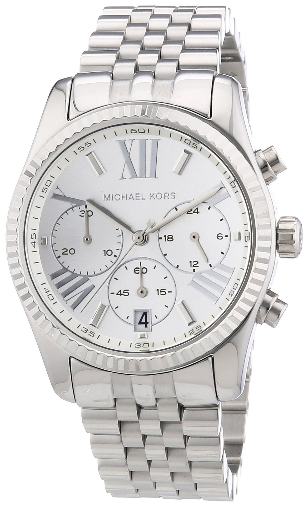 Michael kors damen armbanduhr lexington chronograph