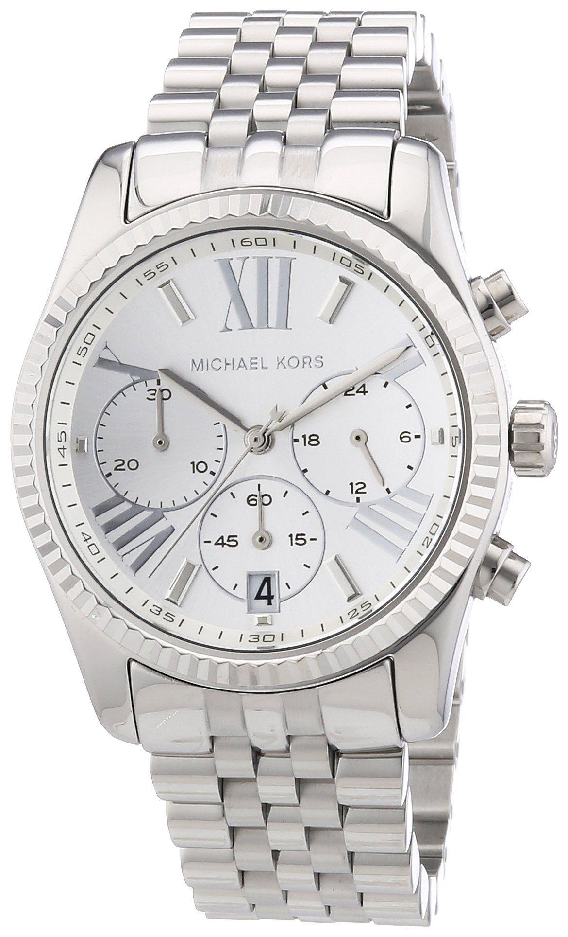 2531ed5f0711e Michael Kors Women s Quartz Watch Lexington Chronograph MK5555 with Metal  Strap  Michael Kors  Amazon.co.uk  Watches