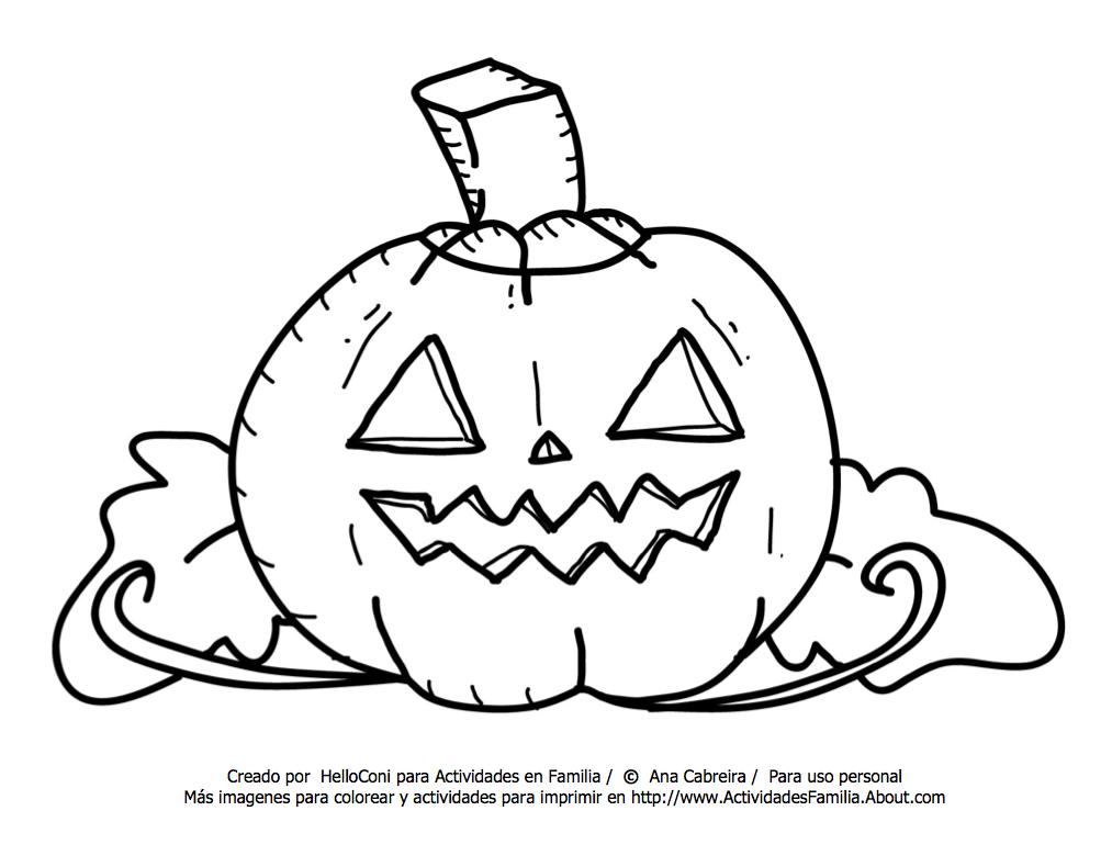 Único Hallowen Para Colorear Composición - Dibujos Para Colorear En ...