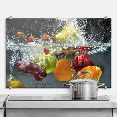 Spritzschutz aus Glas für Küche \ Bad wall-artde Spritzschutz - spritzschutz küche glas