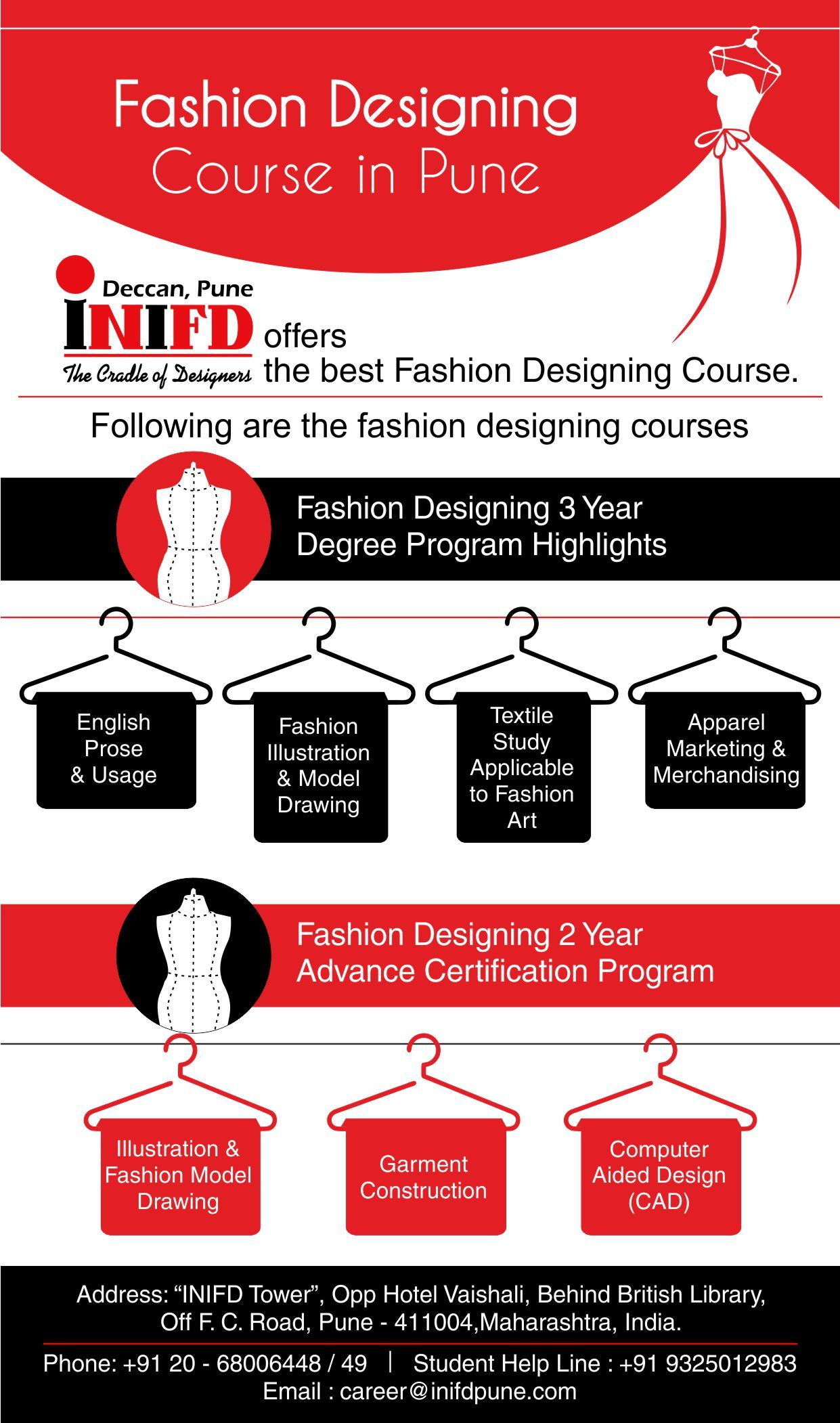 Fashion Designing Colleges Are More In Pune But Inifd Deccan Is One Of The More Popular In Pune Fashion Designing Course Fashion Designing Colleges Cool Style