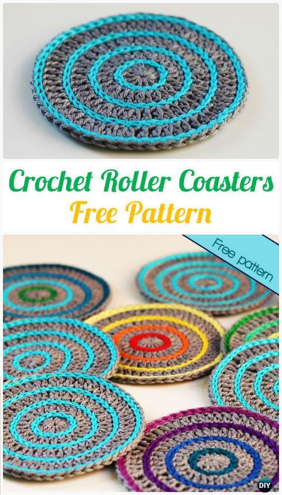 Crochet Roller Coasters Free Pattern - Crochet Coasters Free ...