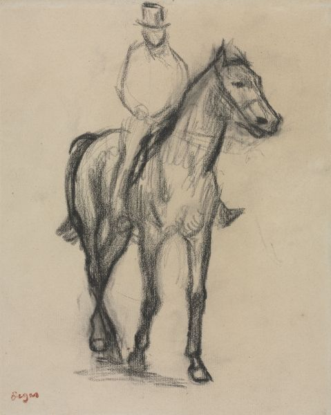Horse and Rider, Edgar Degas (French, 1834-1917)