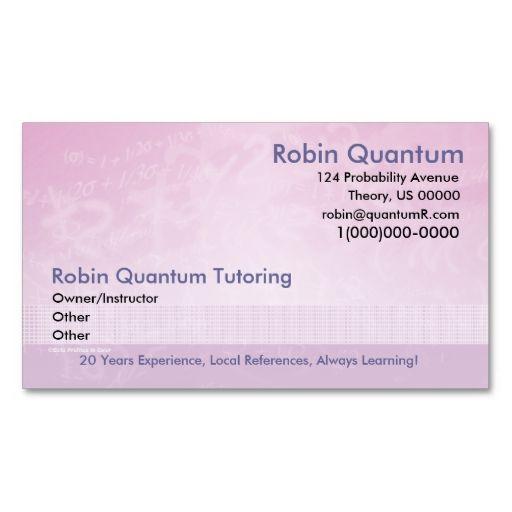 Tutor business card akbaeenw tutor business card colourmoves